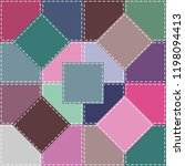 patchwork background with... | Shutterstock .eps vector #1198094413