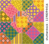 patchwork background with... | Shutterstock .eps vector #1198094416