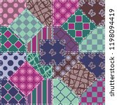 patchwork background with... | Shutterstock .eps vector #1198094419