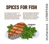 culinary spice for fish ... | Shutterstock .eps vector #1198095406
