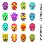 lucha libre mask. martial... | Shutterstock .eps vector #1198095529