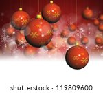 christmas ball on abstract... | Shutterstock . vector #119809600