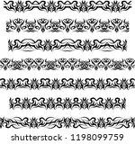 tribal tattoo border seamless... | Shutterstock .eps vector #1198099759