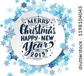 merry christmas   happy new... | Shutterstock .eps vector #1198104043