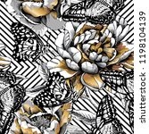seamless camouflage floral... | Shutterstock .eps vector #1198104139