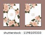 set of flyers  brochures ... | Shutterstock .eps vector #1198105333