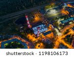 aerial drone view on black coal ... | Shutterstock . vector #1198106173