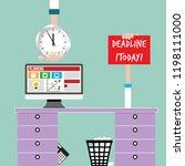 topic of deadline and office...   Shutterstock .eps vector #1198111000