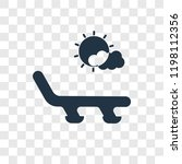 sunbed vector icon isolated on... | Shutterstock .eps vector #1198112356