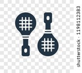 rackets vector icon isolated on ... | Shutterstock .eps vector #1198112383