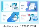 set of web page design... | Shutterstock .eps vector #1198112950