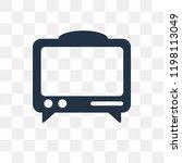 mass media vector icon isolated ... | Shutterstock .eps vector #1198113049