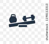 two dumbbells vector icon... | Shutterstock .eps vector #1198113313