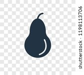 pear vector icon isolated on... | Shutterstock .eps vector #1198113706