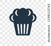 muffin vector icon isolated on... | Shutterstock .eps vector #1198113763
