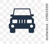 jeep front vector icon isolated ... | Shutterstock .eps vector #1198115203