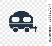 caravan vector icon isolated on ... | Shutterstock .eps vector #1198117249