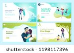 set of web page design... | Shutterstock .eps vector #1198117396