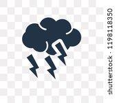 thunder cloud vector icon...   Shutterstock .eps vector #1198118350