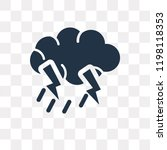 thunder storm vector icon...   Shutterstock .eps vector #1198118353