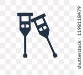 crutches vector icon isolated... | Shutterstock .eps vector #1198118479