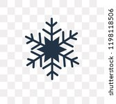 snowflake vector icon isolated... | Shutterstock .eps vector #1198118506