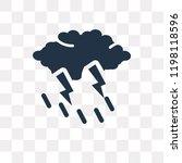 rain and thunder vector icon...   Shutterstock .eps vector #1198118596