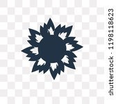 burning sun vector icon... | Shutterstock .eps vector #1198118623