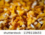 fresh chanterelle mushrooms... | Shutterstock . vector #1198118653