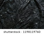beautiful black fabric with... | Shutterstock . vector #1198119760