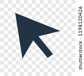 cursor vector icon isolated on...