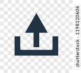 upload vector icon isolated on...   Shutterstock .eps vector #1198120606