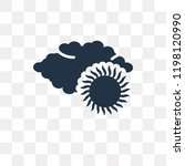 overcast vector icon isolated... | Shutterstock .eps vector #1198120990