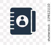 agenda vector icon isolated on... | Shutterstock .eps vector #1198121110