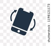 rotation vector icon isolated... | Shutterstock .eps vector #1198121173