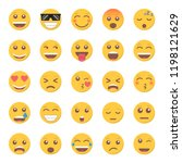 set of emoticon smile icon in a ... | Shutterstock .eps vector #1198121629
