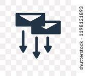 correspondence vector icon... | Shutterstock .eps vector #1198121893