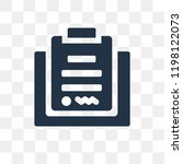 contract vector icon isolated... | Shutterstock .eps vector #1198122073