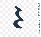 quarter note rest vector icon... | Shutterstock .eps vector #1198123243