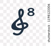 octave clef vector icon...   Shutterstock .eps vector #1198123306