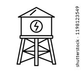 water save tower icon. outline...   Shutterstock .eps vector #1198123549