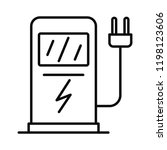 electric car recharge station... | Shutterstock .eps vector #1198123606