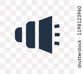 low volume speaker vector icon... | Shutterstock .eps vector #1198123960