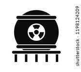 nuclear energy icon. simple... | Shutterstock .eps vector #1198124209