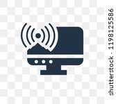 broadcast vector icon isolated... | Shutterstock .eps vector #1198125586