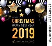 happy new 2019 year  shining... | Shutterstock .eps vector #1198126123