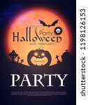 halloween party silhuette... | Shutterstock .eps vector #1198126153