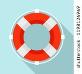 life buoy solution icon. flat... | Shutterstock .eps vector #1198126969