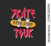 skate tour vector print | Shutterstock .eps vector #1198130299