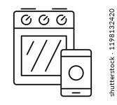 smart cooker stove icon.... | Shutterstock .eps vector #1198132420